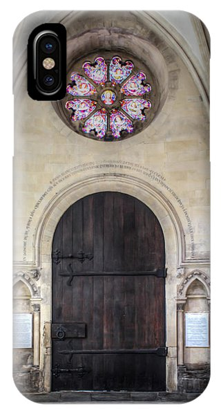 Temple Church Doorway IPhone Case