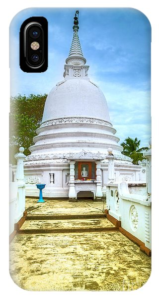 temple complex at the tropical island Sri Lanka Phone Case by Gina Koch