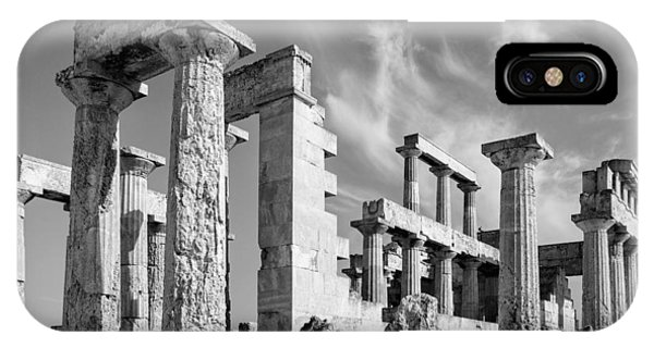 Temple Of Aphaea On Aegina In Greece IPhone Case