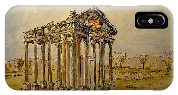 Temple iPhone Case - Temple Of Aphrodite by Juan  Bosco