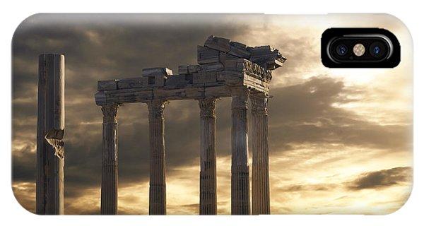 Temple Of Apollo In Side Phone Case by Jelena Jovanovic