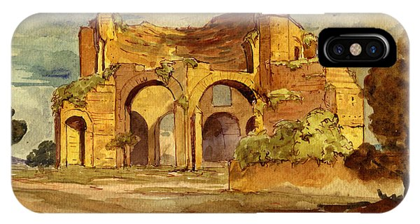Temple Of Minerva Rome IPhone Case