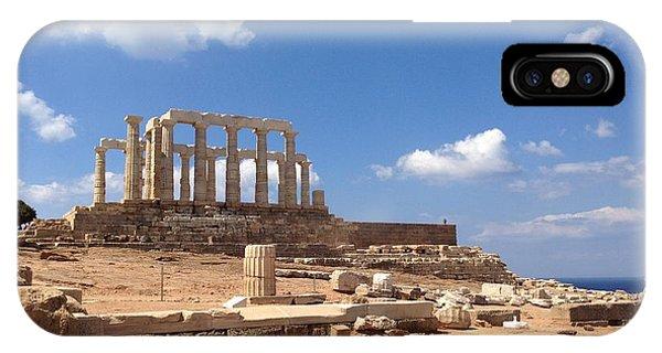 Temple Of Poseidon IPhone Case