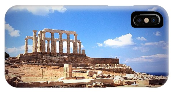 Temple Of Poseidon Vignette IPhone Case