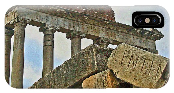 Temple Of Saturn In The Roman Forum IPhone Case