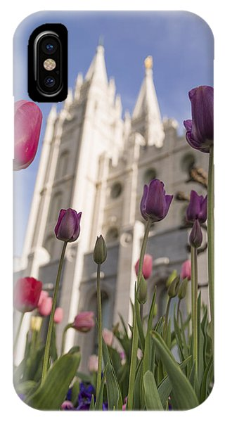 Tulip iPhone X / XS Case - Temple Tulips by Chad Dutson