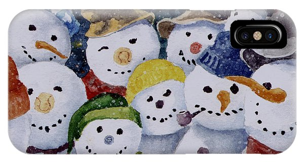 Ten Little Snowmen IPhone Case