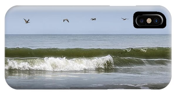 IPhone Case featuring the photograph Ten Pelicans by Steven Sparks