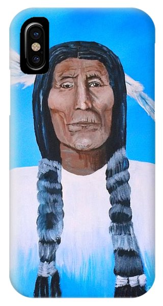 Chief Wolf Robe IPhone Case