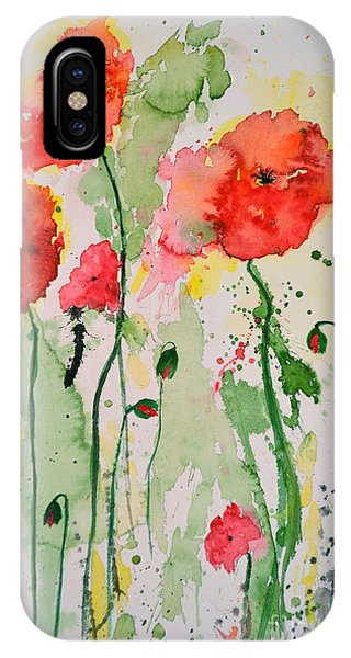 Tender Poppies - Flower IPhone Case