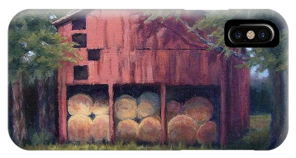Tennessee Barn With Hay Bales IPhone Case