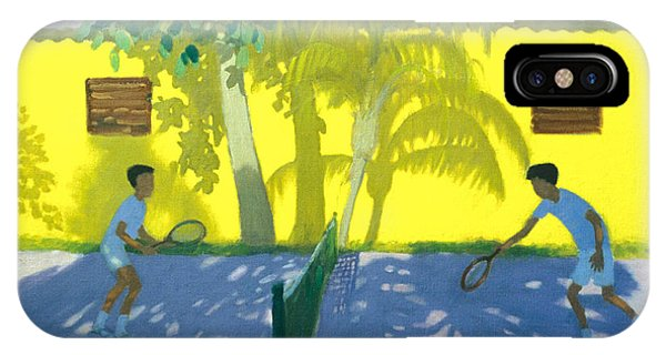 Racquet iPhone Case - Tennis  Cuba by Andrew Macara