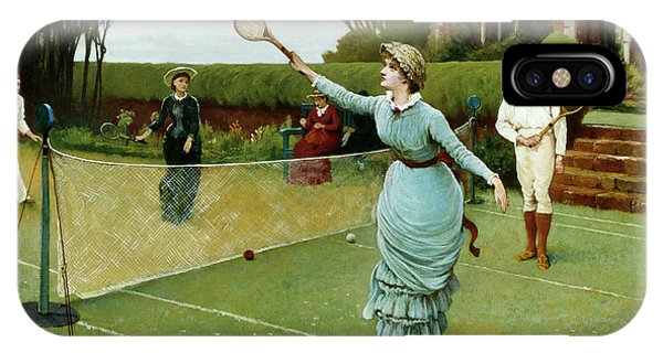 Tennis Players, 1885 IPhone Case