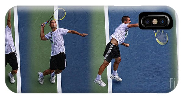 Stop Action iPhone Case - Tennis Serve By Mikhail Youzhny by Nishanth Gopinathan