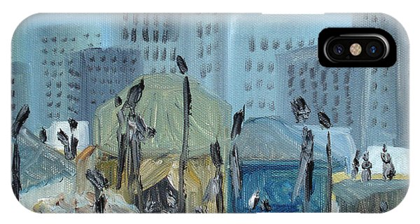 Debts iPhone Case - Tent City Homeless by Judith Rhue