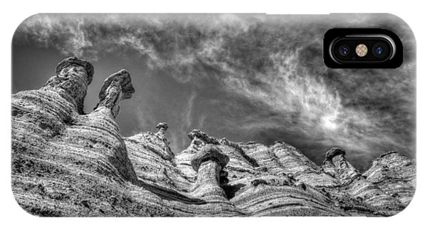 Tent Rocks No. 1 Bw IPhone Case