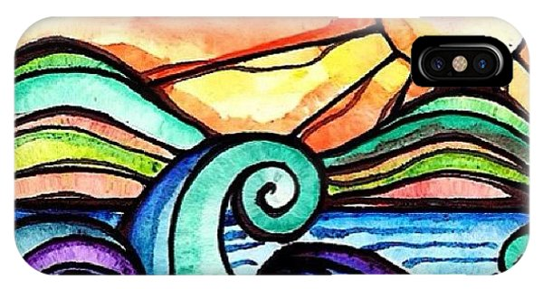 Scenic iPhone Case - Tequila Sunrise #aceo #artcard #art by Robin Mead