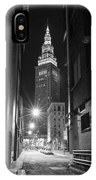 Terminal Tower From A Cleveland Alley IPhone Case