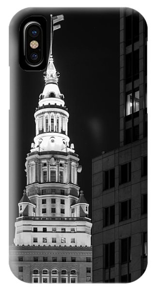 Terminal Tower In Black And White  IPhone Case