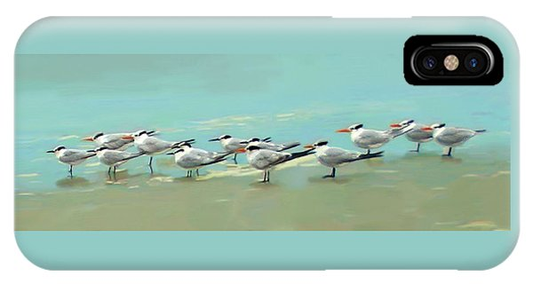 IPhone Case featuring the digital art Tern Tern Tern by Deborah Boyd