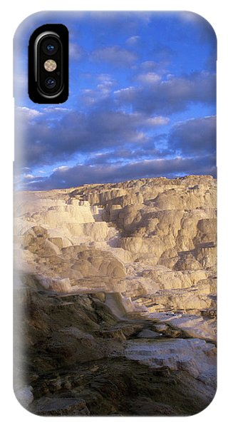 Mammoth Hot Springs iPhone Case - Terraces Of Hot Springs At Sunrise by David Stubbs