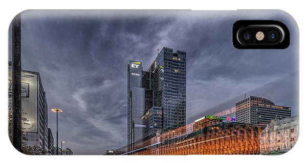 Terrific Warsaw With Zoom Perspective From Jerozolimskie To Rondo One IPhone Case