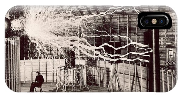 Tesla Coil Experiment Phone Case by Nikola Tesla Museum/science Photo Library