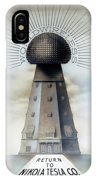 Tesla's Wardenclyffe Tower Laboratory Phone Case by Nikola Tesla Museum/science Photo Library