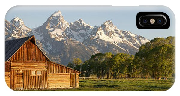 Teton Barn With Bison IPhone Case