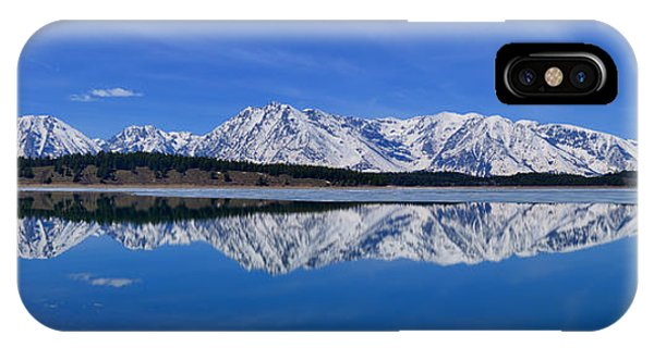 Teton End Of Winter Reflections IPhone Case