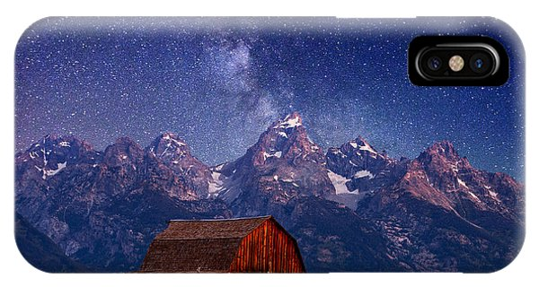 Barn iPhone Case - Teton Nights by Darren  White