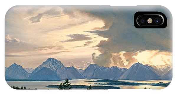 Teton iPhone Case - Teton Range From Signal Mountain by Paul Krapf