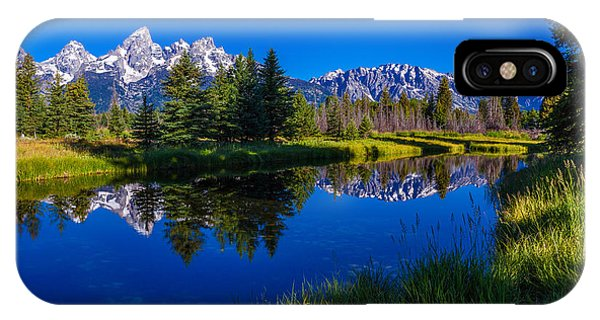 Teton iPhone Case - Teton Reflection by Chad Dutson
