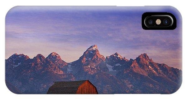 Sunrise iPhone Case - Teton Sunrise by Darren  White