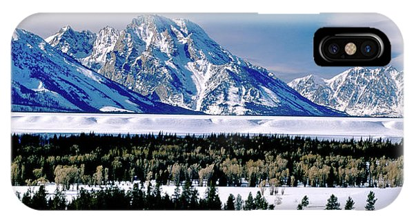 Teton Valley Winter Grand Teton National Park IPhone Case