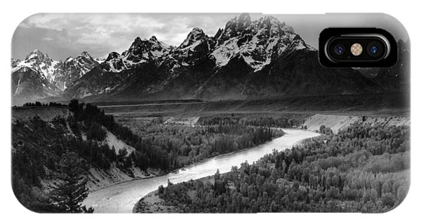 Teton iPhone Case - Tetons And The Snake River by Ansel Adams