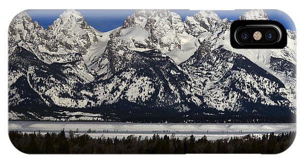 Tetons From Glacier View Overlook IPhone Case
