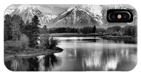 Tetons In Black And White IPhone Case