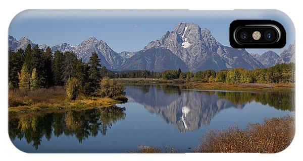 Tetons Mount Moran Morning IPhone Case