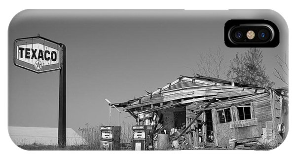 Texaco Country Store In Black And White IPhone Case