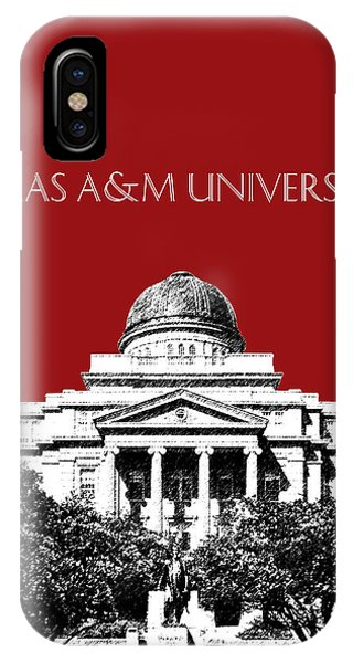 Aggie iPhone Case - Texas A And M University - Dark Red by DB Artist