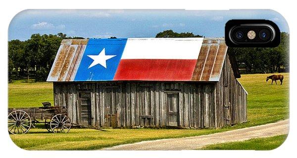 Texas Barn Flag IPhone Case