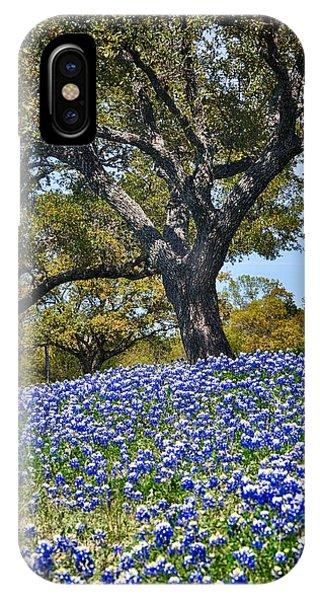 Texas Bluebonnet Hill IPhone Case