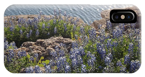 Texas Bluebonnets At Lake Travis Phone Case by Rebecca Cearley