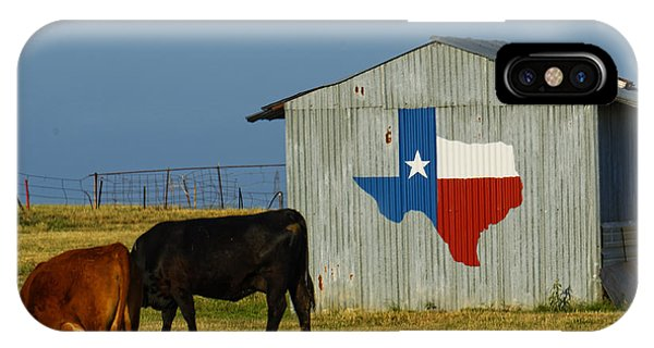 Texas iPhone Case - Texas Farm With Texas Logo by Jonathan Davison