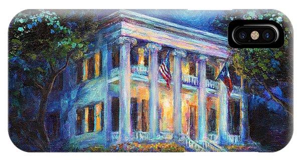iPhone Case - Texas Governor Mansion Painting by Svetlana Novikova