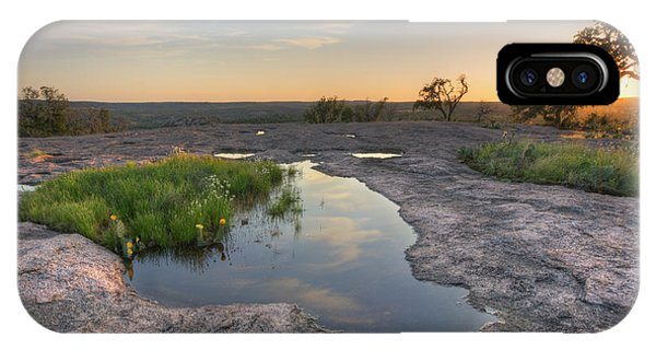 Pears iPhone Case - Texas Hill Country Images - Zen Pools At Enchanted Rock State Pa by Rob Greebon