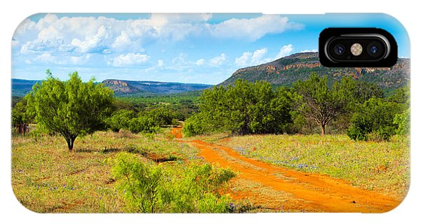 Texas Hill Country Red Dirt Road IPhone Case