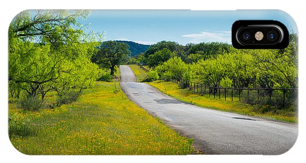 Texas Hill Country Road IPhone Case