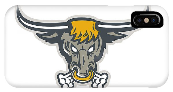 Texas Longhorn Bull Head Front Phone Case by Aloysius Patrimonio
